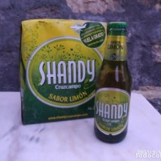 Coleccionismo de cervezas: SHANDY CRUZCAMPO SABOR LIMON PACK DE SEIS. PERFECTAS LLENAS FOTOS.. Lote 248814055