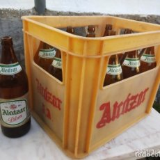 Coleccionismo de cervezas: CERVEZA ALCAZAR DE JAEN CAJA DE LITROS FOTOS.. Lote 251414100