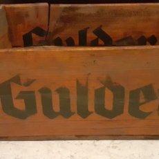 Coleccionismo de cervezas: CAJA DE CERVEZAS GULDER, 45X30X19 CM. Lote 252051325
