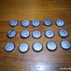 Coleccionismo de cervezas: LOTE 15 TAPON CORONA DE RELIEVE SIN CERRAR. Lote 252724540