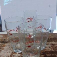 Coleccionismo de cervezas: 4 VASOS CERVEZAS NORTE ORO. Lote 254497780
