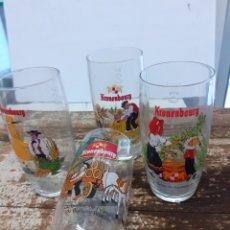 Coleccionismo de cervezas: 4 VASOS CERVEZA KRONENBOURG. Lote 254505940