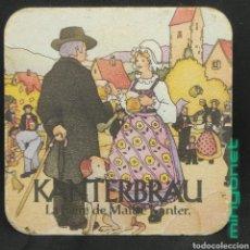 Coleccionismo de cervezas: POSAVASOS DE CERVEZA KANTERBRÄU. Lote 254887255