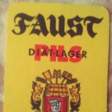 Coleccionismo de cervezas: POSAVASOS DE CERVEZA- FAUST. Lote 255391000