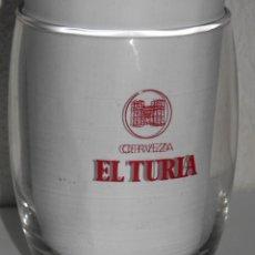 Coleccionismo de cervezas: VASO VINTAGE DE LA CERVEZA TURIA. Lote 255579165