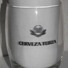 Coleccionismo de cervezas: VASO VINTAGE DE LA CERVEZA TURIA. Lote 255579305