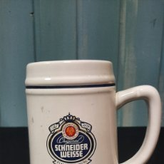 Coleccionismo de cervezas: JARRA DE CERVEZA SCHNEIDER WEISSE OLIMPIADAS BARCELONA 92. Lote 255950795