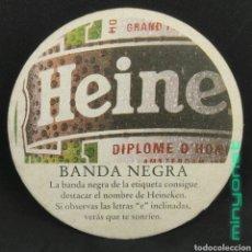 Coleccionismo de cervezas: POSAVASOS DE CERVEZA HEINEKEN - BANDA NEGRA. Lote 262828580