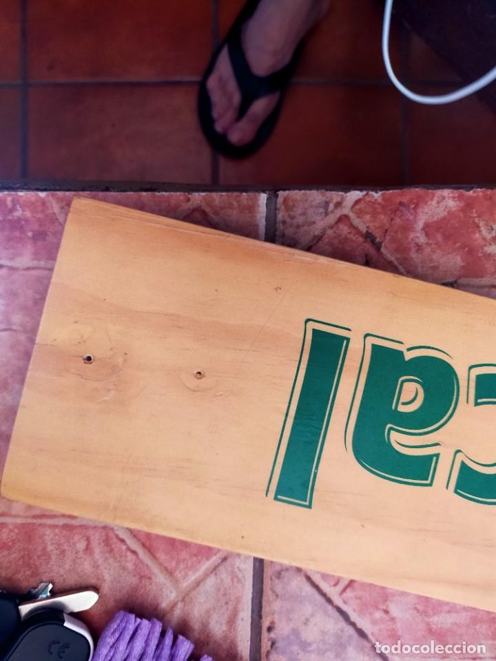 Coleccionismo de cervezas: Antiguo cartel pieza de madera promoción botella Cerveza La Tropical Las Palmas de Gran Canaria - Foto 5 - 264165676