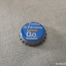 Coleccionismo de cervezas: CHAPA TINTO DE VERANO LIMÓN 0,0 (U). Lote 277249718