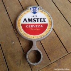Coleccionismo de cervezas: PUBLICIDAD DE CERVEZA AMSTEL PARA GRIFO DE CERVEZA. Lote 264779854