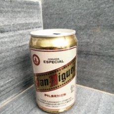 Coleccionismo de cervezas: LATA DE CERVEZA SAN MIGUEL LÉRIDA MÁLAGA BURGOS AÑO 1990. Lote 266304828