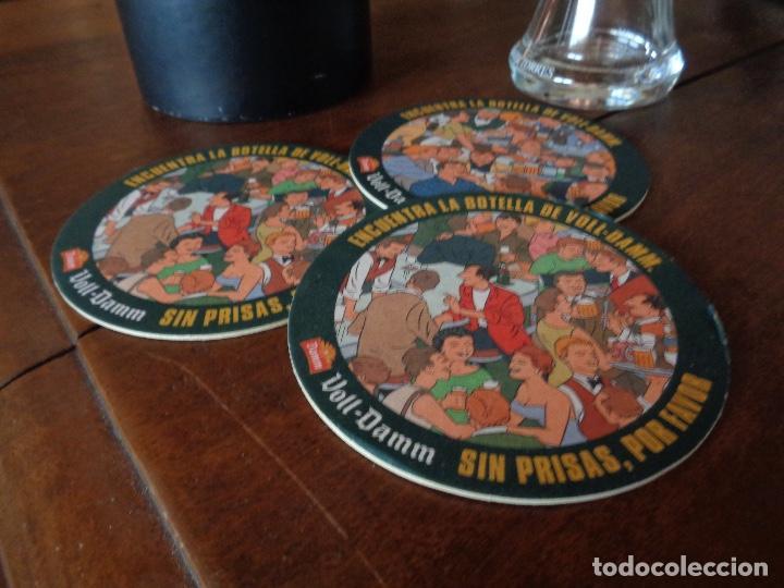 Coleccionismo de cervezas: kit cerveza Voll Damm, posavasos, jarra, y caja - Foto 2 - 268727279