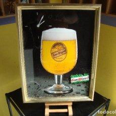 Coleccionismo de cervezas: CUADRO CERVEZA SAN MIGUEL CON RELOJ VER FOTOS. Lote 269821303
