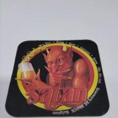 Coleccionismo de cervezas: POSAVASOS CERVEZA SATAN.. Lote 269933883