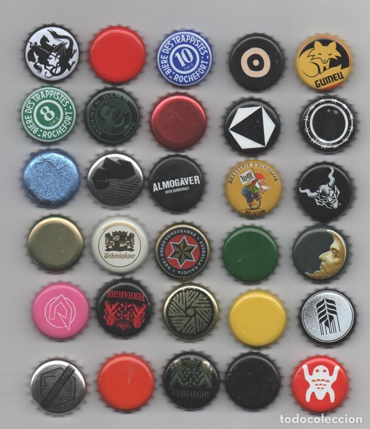 LOTE 30 CHAPAS CERVEZA VARIAS ARTESANAS RARAS (Coleccionismo - Botellas y Bebidas - Cerveza )