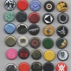 Coleccionismo de cervezas: LOTE 30 CHAPAS CERVEZA VARIAS ARTESANAS RARAS. Lote 270228938