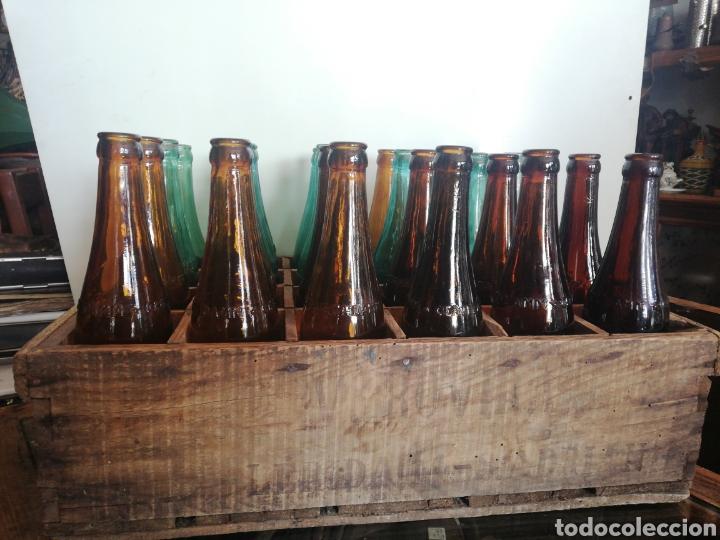 CAJA COMPLETA SOCIEDAD ANONIMA DAMM, ESTILO PILSEN, ORIGINAL (Coleccionismo - Botellas y Bebidas - Cerveza )