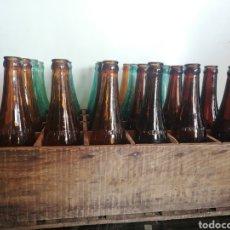 Coleccionismo de cervezas: CAJA COMPLETA SOCIEDAD ANONIMA DAMM, ESTILO PILSEN, ORIGINAL. Lote 270230663