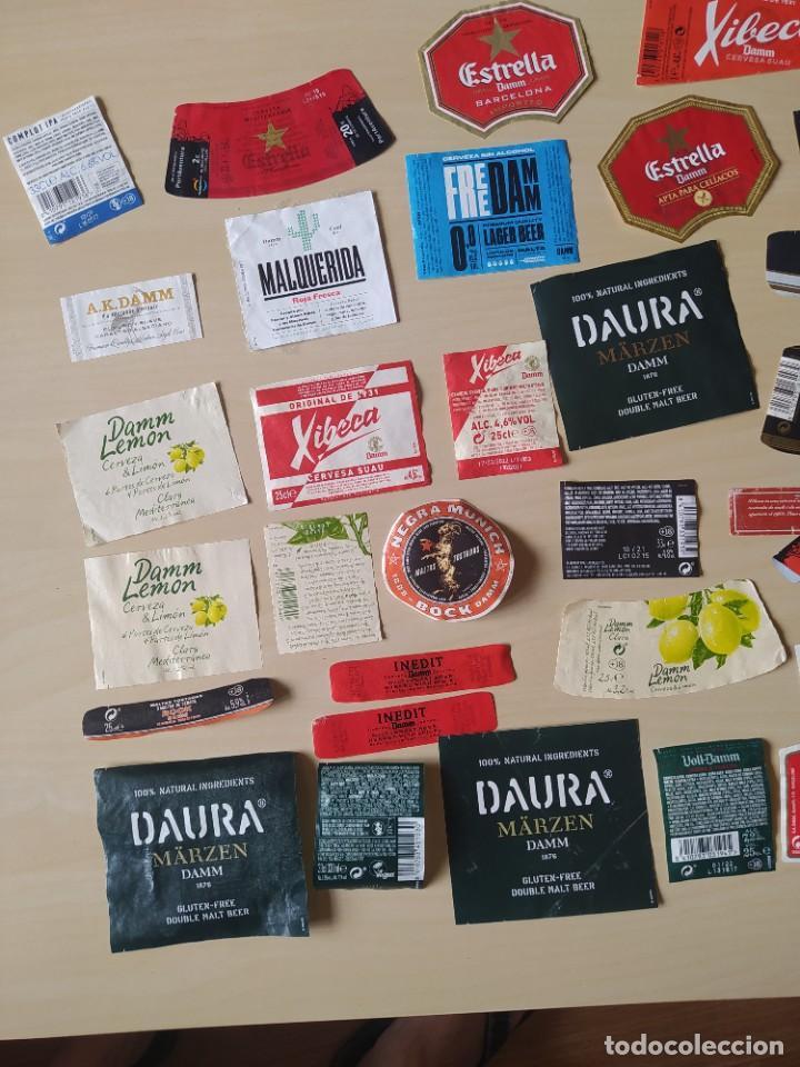 Coleccionismo de cervezas: LOTE 60 ETIQUETAS DAMM. USADAS - Foto 2 - 270235733