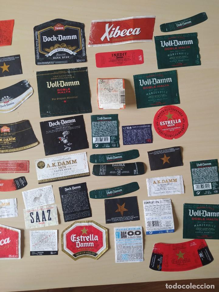 Coleccionismo de cervezas: LOTE 60 ETIQUETAS DAMM. USADAS - Foto 4 - 270235733