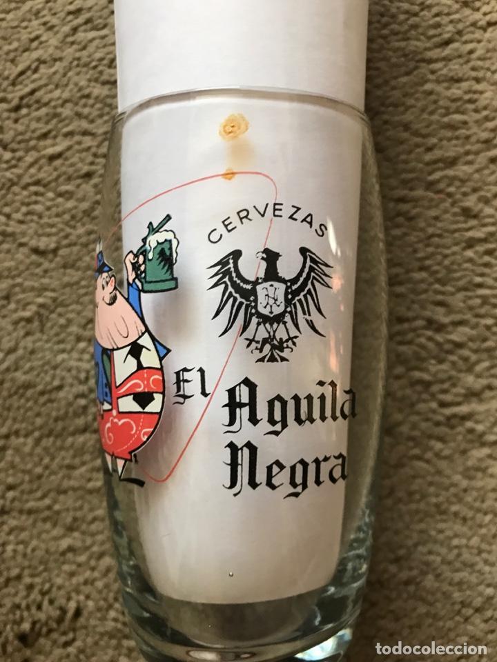 """VASO DE CERVEZA """"EL ÁGUILA NEGRA"""" (Coleccionismo - Botellas y Bebidas - Cerveza )"""