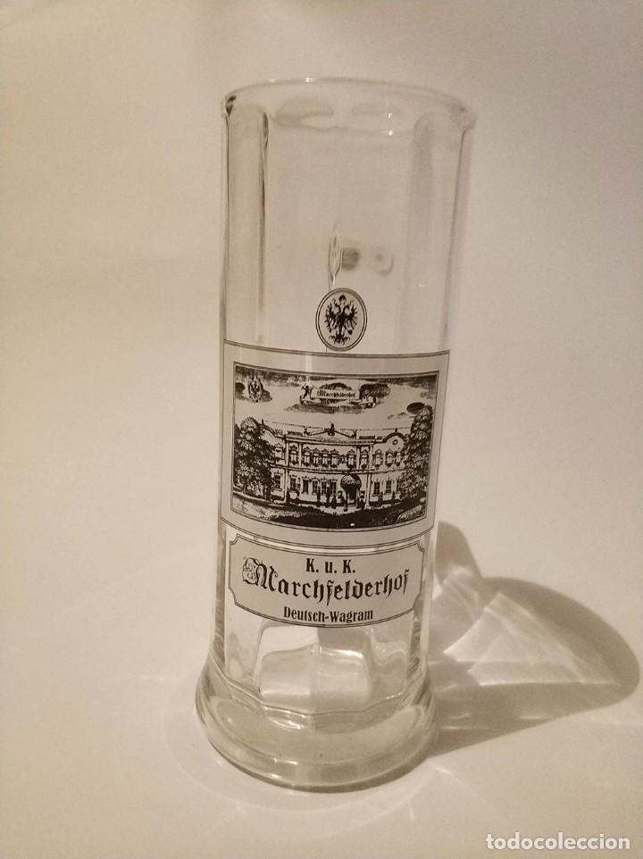 Coleccionismo de cervezas: jarra cerveza de medio litro marchfelderhof - Foto 5 - 270935253