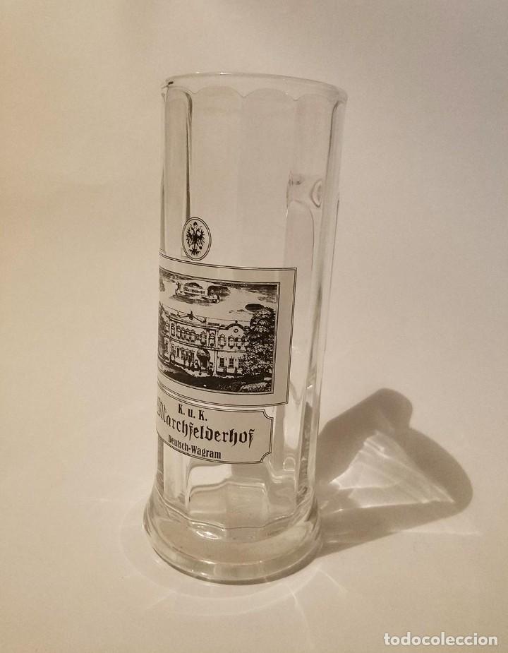 Coleccionismo de cervezas: jarra cerveza de medio litro marchfelderhof - Foto 2 - 270935253