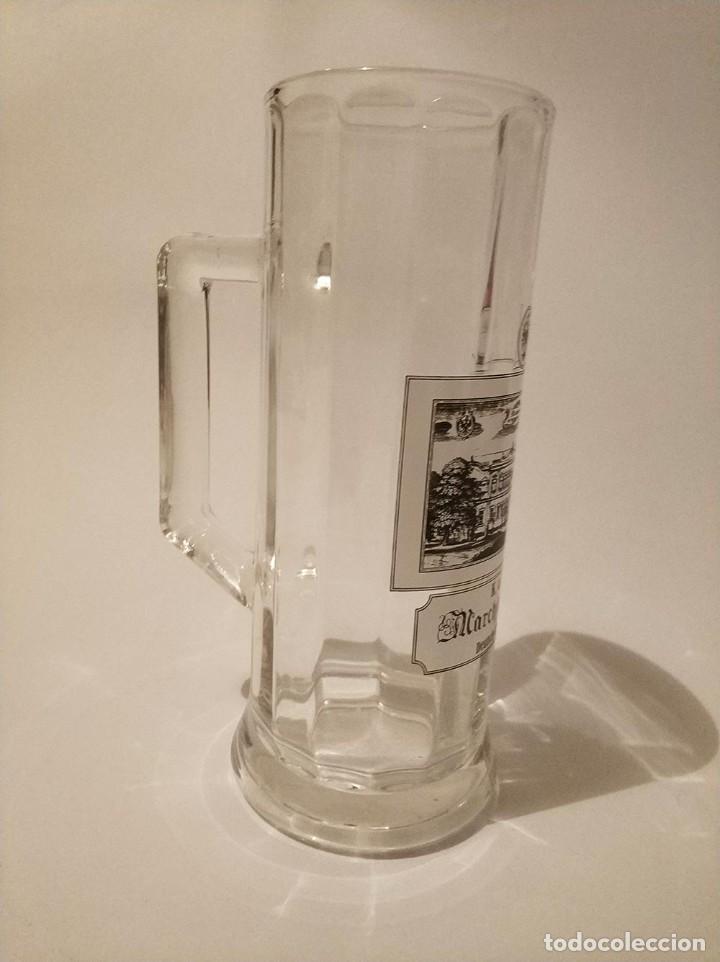 Coleccionismo de cervezas: jarra cerveza de medio litro marchfelderhof - Foto 3 - 270935253