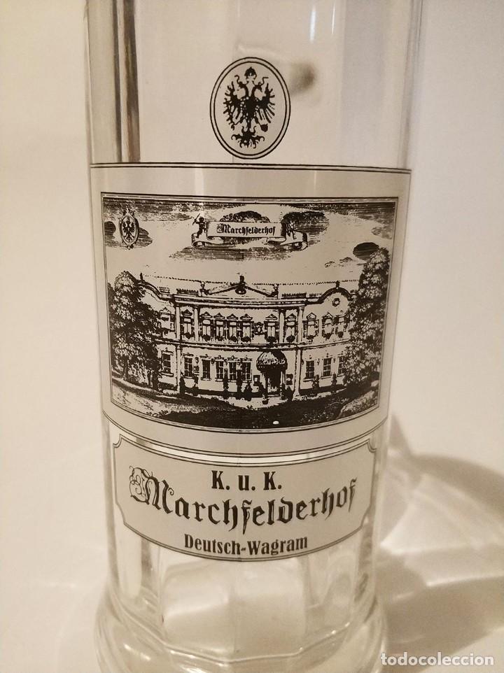 Coleccionismo de cervezas: jarra cerveza de medio litro marchfelderhof - Foto 4 - 270935253