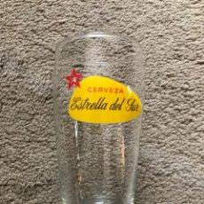 """Coleccionismo de cervezas: VASO DE CERVEZA """"ESTRELLA DEL SUR"""" ANTIGUO. Lote 270935653"""