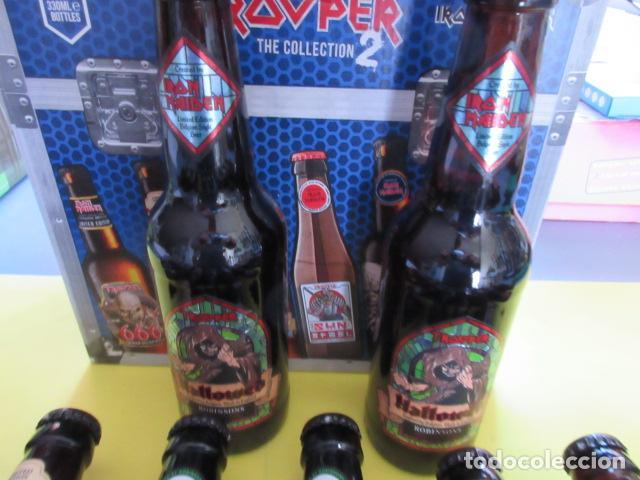 Coleccionismo de cervezas: CAJA COLECCION 12 BOTELLAS 33 CC. IRON MAIDEN EDICION LIMITADA METALLICA ACDC ROCK TROOPER - Foto 5 - 270944358