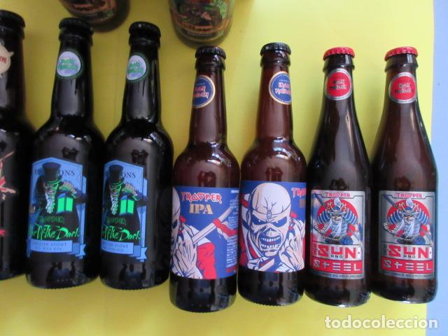 Coleccionismo de cervezas: CAJA COLECCION 12 BOTELLAS 33 CC. IRON MAIDEN EDICION LIMITADA METALLICA ACDC ROCK TROOPER - Foto 6 - 270944358