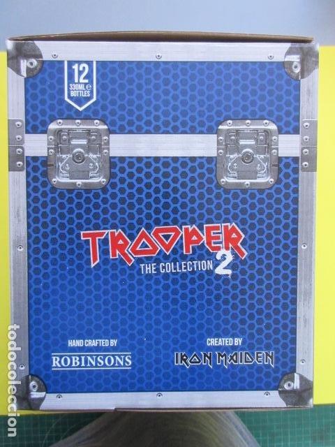 Coleccionismo de cervezas: CAJA COLECCION 12 BOTELLAS 33 CC. IRON MAIDEN EDICION LIMITADA METALLICA ACDC ROCK TROOPER - Foto 8 - 270944358