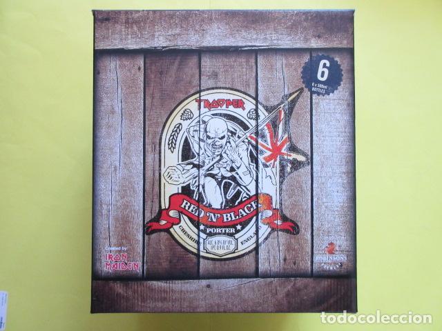 Coleccionismo de cervezas: CAJA COLECCION 6 BOTELLAS 500 CC. IRON MAIDEN EDICION LIMITADA METALLICA ACDC ROCK TROOPER - Foto 2 - 270944683