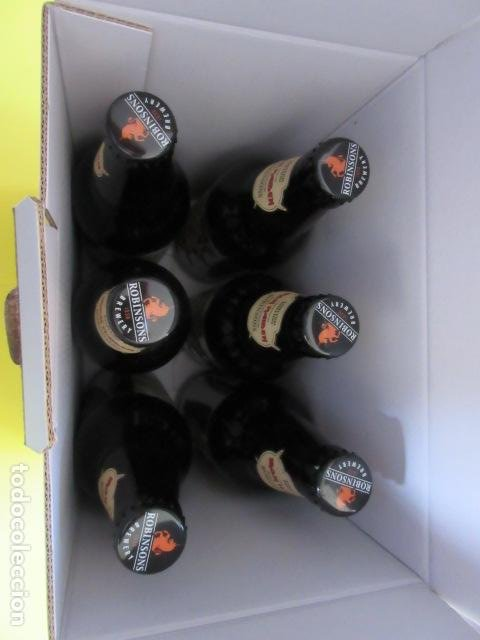 Coleccionismo de cervezas: CAJA COLECCION 6 BOTELLAS 500 CC. IRON MAIDEN EDICION LIMITADA METALLICA ACDC ROCK TROOPER - Foto 6 - 270944683