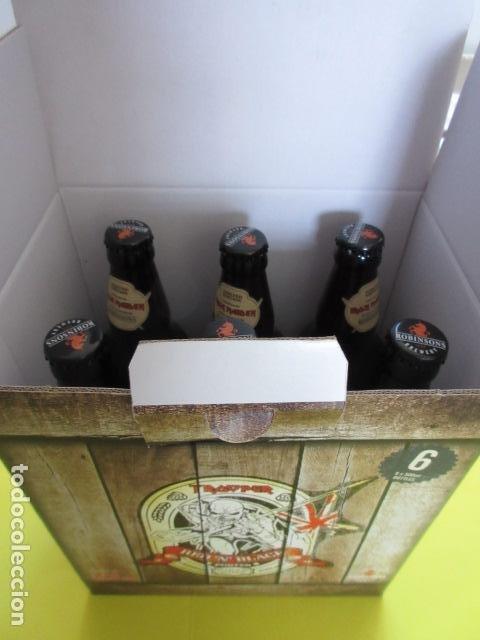 Coleccionismo de cervezas: CAJA COLECCION 6 BOTELLAS 500 CC. IRON MAIDEN EDICION LIMITADA METALLICA ACDC ROCK TROOPER - Foto 7 - 270944683