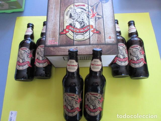 CAJA COLECCION 6 BOTELLAS 500 CC. IRON MAIDEN EDICION LIMITADA METALLICA ACDC ROCK TROOPER (Coleccionismo - Botellas y Bebidas - Cerveza )