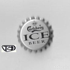 Coleccionismo de cervezas: TAPON CORONA CHAPA BEER BOTTLE CAP KRONKORKEN TAPPI CAPSULE CERVEZA CARLSBERG ICE. Lote 270947393