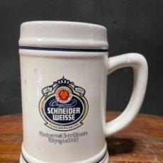 Coleccionismo de cervezas: JARRA DE CERVEZA SCHNEIDER WEISSE OLIMPIADAS BARCELONA 92. Lote 271061263