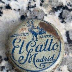 Coleccionismo de cervezas: CHAPA O CORONA ANTIGUA PRODUCTOS EL GALLO MADRID FANTASIA. Lote 272142098