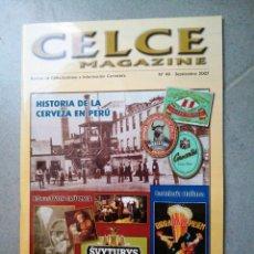 Coleccionismo de cervezas: REVISTA CERVEZA CELCE 48 AÑO 2007 LATAS BOTELLA POSAVASOS EVYTURYS LITUANIA PERÚ SAN MIGUEL. Lote 276402753