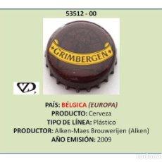 Coleccionismo de cervezas: TAPON CORONA CHAPA BOTTLE CAP KRONKORKEN TAPPI CAPSULA - CERVEZA GRIMBERGEN (BÉLGICA). Lote 295415078