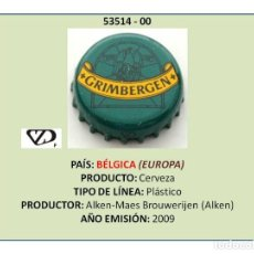 Coleccionismo de cervezas: TAPON CORONA CHAPA BOTTLE CAP KRONKORKEN TAPPI CAPSULA - CERVEZA GRIMBERGEN (BÉLGICA). Lote 295415243