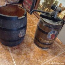 Coleccionismo de cervezas: BARRIL CERVEZA CRUZCAMPO CON GRIFO Y BIDON AUTOSERVICIO. Lote 277281108