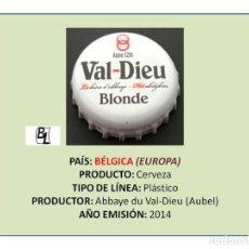 Coleccionismo de cervezas: TAPON CORONA CHAPA BOTTLE CAP KRONKORKEN TAPPI CAPSULA - CERVEZA VAL-DIEU BLONDE (BÉLGICA). Lote 295415278