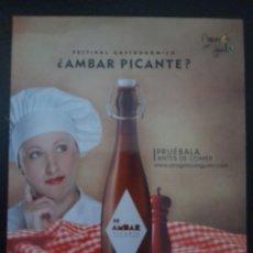 Coleccionismo de cervezas: TARJETA CERVEZA ÁMBAR PICANTE LA ZARAGOZANA. Lote 277509213