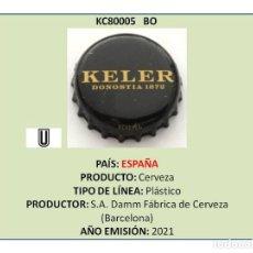 Collectionnisme de bières: TAPON CORONA CHAPA BOTTLE CAP KRONKORKEN TAPPI CAPSULA - CERVEZA KELER (ESPAÑA). Lote 278381483