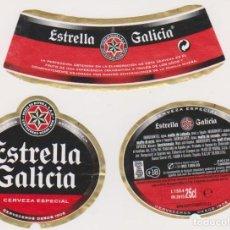 Coleccionismo de cervezas: ETIQUETA CERVEZA ESTRELLA GALICIA 25CL BEER LABELS BIER BIRRA. Lote 278540583