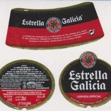 Coleccionismo de cervezas: ETIQUETA CERVEZA ESTRELLA GALICIA 25CL BEER LABELS BIER BIRRA. Lote 278540878